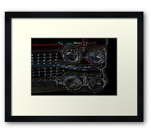Cadillac Neon Grill Framed Print