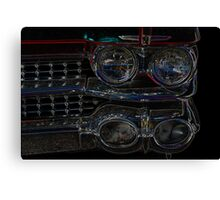 Cadillac Neon Grill Canvas Print