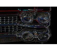 Cadillac Neon Grill Photographic Print