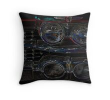 Cadillac Neon Grill Throw Pillow