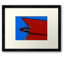 Red Cadillac Fin II Framed Print