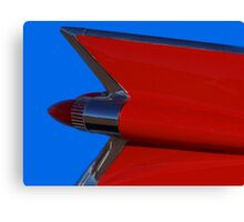 Red Cadillac Fin II Canvas Print