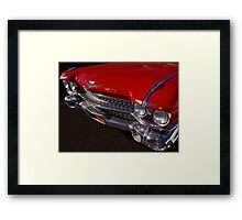 Red Cadillac Grill Framed Print