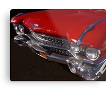 Red Cadillac Grill Metal Print
