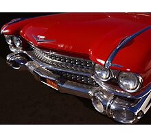 Red Cadillac Grill Photographic Print
