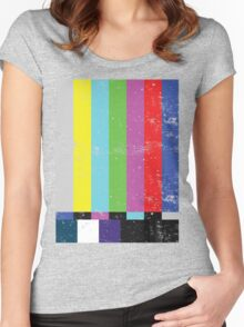TV test Lines  Women's Fitted Scoop T-Shirt
