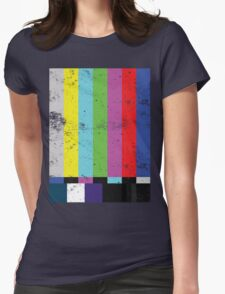 TV test Lines  Womens Fitted T-Shirt