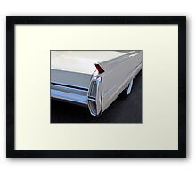 White Cadillac Fin Framed Print