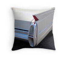White Cadillac Fin Throw Pillow