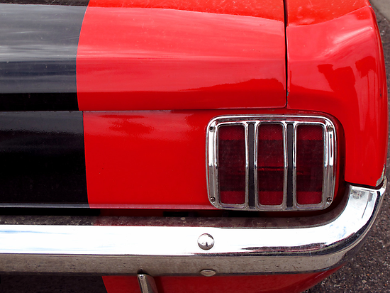 Mustang Tail Light by wayneyoungphoto
