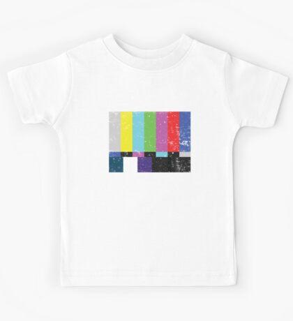 TV test Lines (Half t-shirt 02) Kids Tee