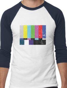 TV test Lines (Half t-shirt 02) Men's Baseball ¾ T-Shirt
