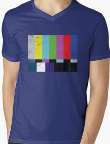 TV test Lines (Half t-shirt 02) Mens V-Neck T-Shirt