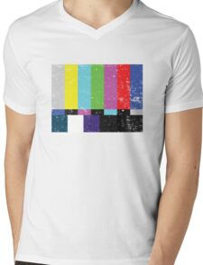 TV test Lines (Half t-shirt 02) Mens V-Neck T-Shirt