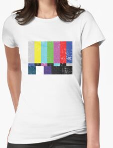 TV test Lines (Half t-shirt 02) Womens Fitted T-Shirt
