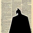 Dictionary Art Batman by House Of Wonderland