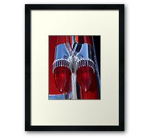 Red Cadillac Tail Lights Framed Print
