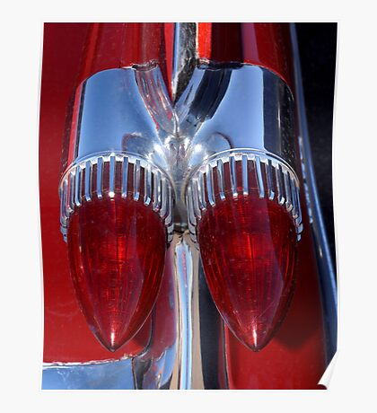 Red Cadillac Tail Lights Poster