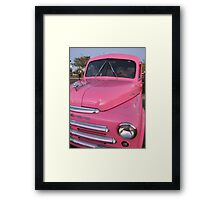 Pink Dodge Delivery Van Framed Print