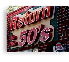 Back to the 50s Canvas Print