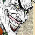 Dictionary Art Joker by House Of Wonderland