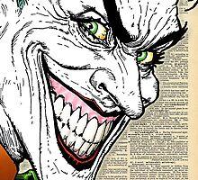 Dictionary Art Joker by House Of Wonderland