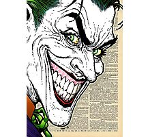 Dictionary Art Joker Photographic Print