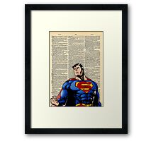 Dictionary Art Superman Framed Print