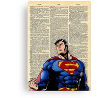 Dictionary Art Superman Canvas Print