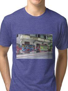 Graffiti piece with Deez Tri-blend T-Shirt