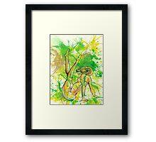 Deer Pin-Up Framed Print