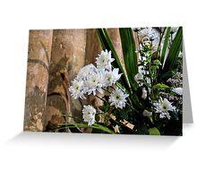 Flowers At St Mary,s Church Bridport, Dorset UK  Greeting Card