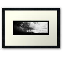 ©HCS Cumulonimbus Precipitatus Monochrome Framed Print