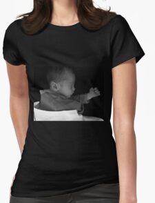 Kung-fu Baby Womens Fitted T-Shirt