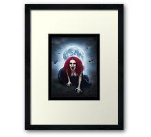 Blood Lust Vampire Lady Framed Print