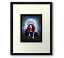 Blood Lust Vampire Lady Framed Print