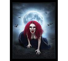 Blood Lust Vampire Lady Photographic Print
