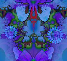 Butterflies in a Blue and Purple world by walstraasart