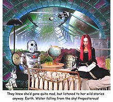 Story Hour with the Robots Photographic Print