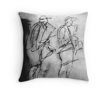 """""""Christmas Eve in Downtown Melbourne 1 Throw Pillow"""