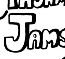 Pajama Jams Logo #1 - Eugene Style, Black Version Sticker