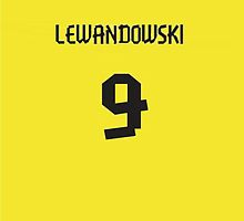 Lewandowski Jersey iPhone Case by TheTubbyLife