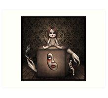 Girl in the Box. Art Print