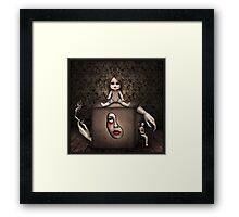 Girl in the Box. Framed Print