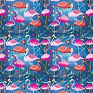 different pattern of flamingos by Tanor