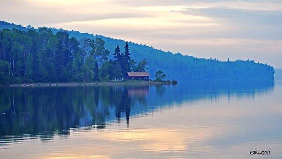 Sunrise Over Eagle Lake, Maine by Caleb Ward