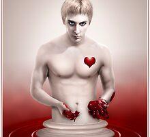 Broken Heart Ivory Statue Man by Emily Heatherly
