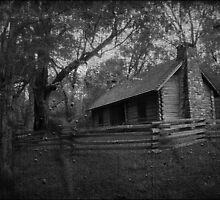 Haunted Cabin Creepy Dark by Emily Heatherly