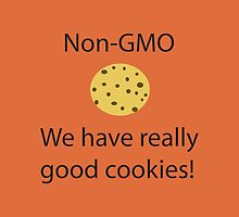 NonGMO We have Really Good Cookies- iPad Case by Lori Lyons