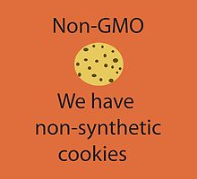 NonGMO- We have Non-Synthetic Cookies - iPad Case by Lori Lyons